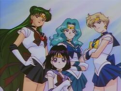 Sailor Moon Sailor Stars Outer Senshi in the Ending
