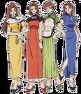 Card Captor Sakura Syaoran's sisters pose