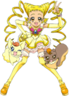 Yes! Pretty Cure 5 Cure Lemonade, Coco and Natts