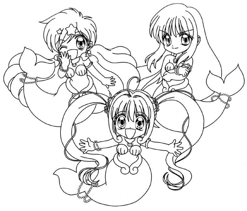Erfreut Malvorlagen Anime Meerjungfrauen Galerie ...