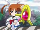 Mahou Shoujo Lyrical Nanoha Nanoha activating the Protection