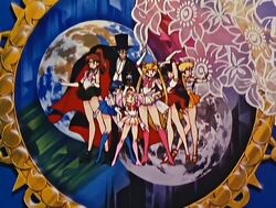 Sailor Moon SuperS Super Sailor Team in the Opening