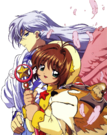 Card Captor Sakura Sakura and Yue pose