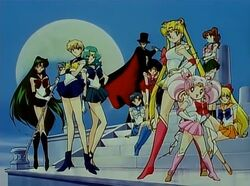Sailor Moon S Main Cast in the Opening