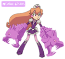 Amethyst, Princess of Gemworld Amethyst using the Nemean Gestus