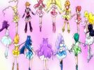 Pretty Cure All Stars Dx All Pretty Cures receiving power from the Miracle Lights