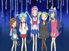 Sasami Mahou Shoujo Club Sasami, Misao, Makoto, Tsukasa and Anri5