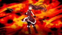 Puella Magi Madoka Magica Movie Kyouko Sakura transforming