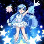 Super Aqua Pearl Voice with her jellyfish Purachan