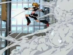 Futari wa Pretty Cure Cure Black in the Opening