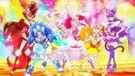 Kira Kira Pretty Cure Ala Mode Group Pose with Parfait