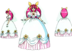 Wedding Peach bride pose