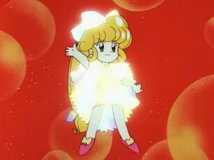 Hana no Mahou Tsukai Mary Bell in her angry transformation