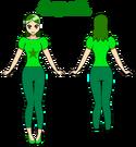 Hanayama Iris (front+back; with skin color)
