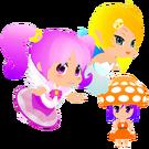 Gdgd Youseis Pikupiku, Shrshr and Korokoro pose