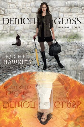 Cover book Demonglass by Rache Hawkins author of Hex Hall series