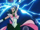 Sailor Moon SuperS Sailor Jupiter using the Supreme Thunder attack