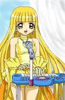 Yellow Pearl Voice playing the keyboard