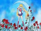 Sailor Moon Crystal Moon Prism Power transformation pose (crescent moon)