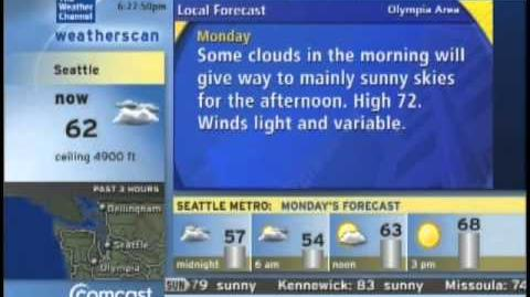 Weatherscan Seattle, WA June 19th 2011 6 22 PM