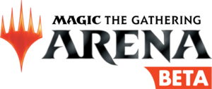 MagicArena beta logo black