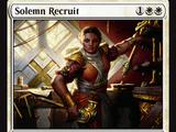 Solemn Recruit