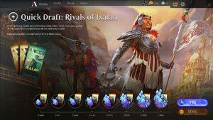 Quick draft menu RIX May 18 2018