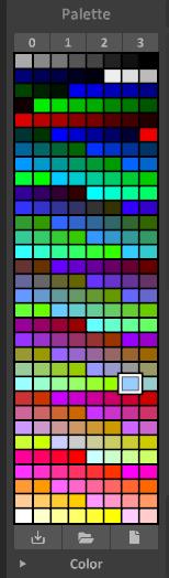 Interface 0.99.5a panel-palette