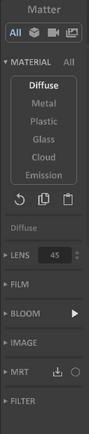 Interface 0.99.5a panel-matter