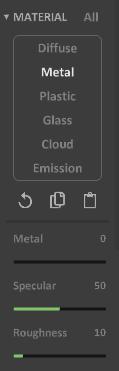 Interface 0.99.5a render matter-metal