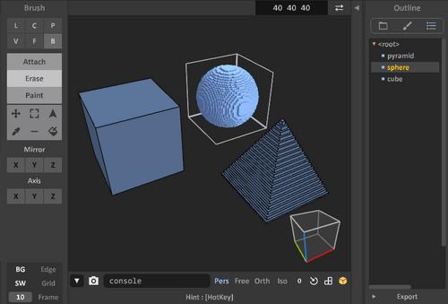 Glossary 0.99.5a model editor-object