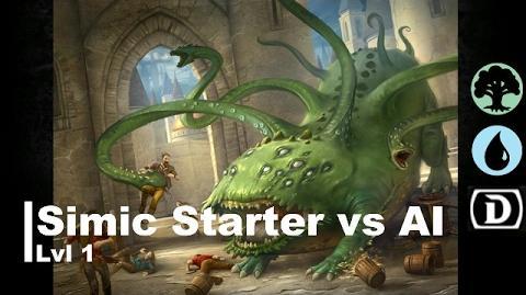 Lvl 1 Simic Starter vs AI