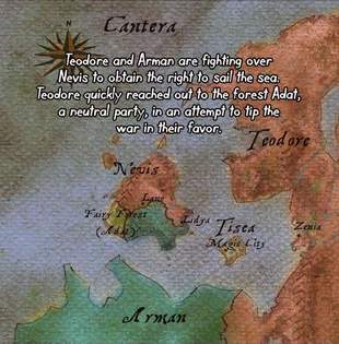 The first shown map of Cantera.