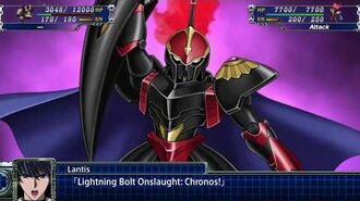 Super Robot Wars T - Rune God Lantis Attacks