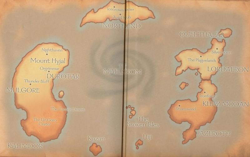 Image - Old Azeroth World Map.jpg | Magickverse Encyclopedia ...