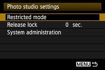 Studio menu