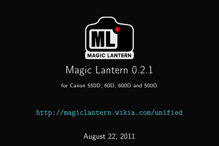 Unified/UserGuide | Magic Lantern Firmware Wiki | FANDOM
