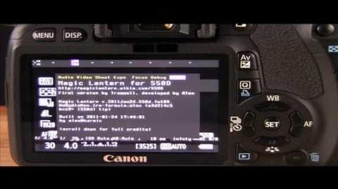 MAGIC LANTERN ANSWERS AND NEW BUILD FOR CANON T2I OR 550D