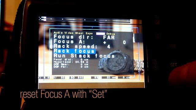Magic Lantern for Canon 550D - Rack Focus Tutorial