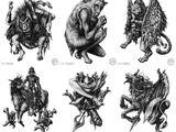 Виды демонов по роду их деятельности