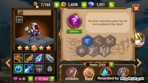 Magic Rush Heroes Bibo lvl 85 Review