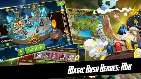 Magic Rush Heroes Magic Squares mini-game Gameplay