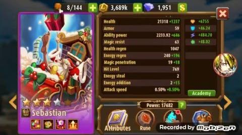 Magic Rush Heroes Sebastian lvl 85 Review