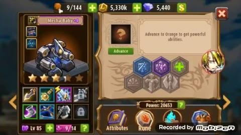 Magic Rush Heroes Mecha Baby lvl 85 Review