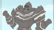 Arnold Captain Rock Man metamorphic