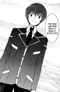 Kazuki wore his academy uniform