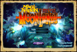 Battle for the moonlands login screen