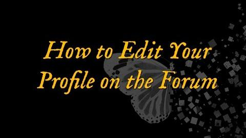 How to Edit Your Profile on the Forum