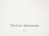 The Lost Athenaeum