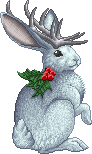 White Holly Jackalope Adult